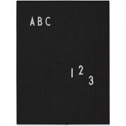 Design Letters Anslagstavla A4, Black