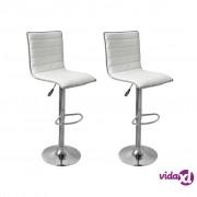 vidaXL Barske Stolice 2 kom Bijele