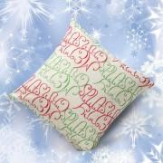 Nioworld Navidad Funda De Almohada Cartas-Verde + Rojo