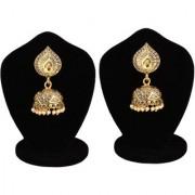 Jewels Gold Party Wear Fashion Designer Traditional Stone Latest Stylish Fancy Jhumki Earring Set For Women Girls