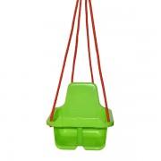 Leagan din plastic cu spatar pentru copii Verde deschis