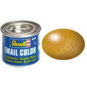 Vopsea culoarea alamei metalizat pentru modelism Revell 14 ml