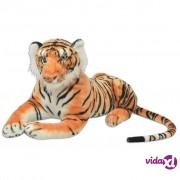 vidaXL Igračka Tigar Pliš Smeđa boja XXL