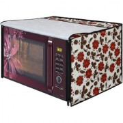 Glassiano White Floral Printed Microwave Oven Cover for Samsung 28 Litre Convection Microwave Oven MC28H5025VB/TL Black
