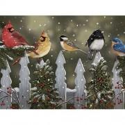 Bits and Pieces - 1000 Piece Jigsaw Puzzle - Winter Perch, Birds in Snow - by Artist William Vanderdasson - 1000 pc Jigsaw