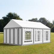 Intent24.fr Tente de réception 3x6m PVC 500 g/m² gris imperméable barnum, chapiteau