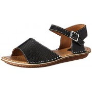 Clarks Women's Black Combi Leather Fashion Sandals - 5 UK/India (38 EU)