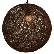 vidaXL laelamp, pruun, kera, 45 cm, E27
