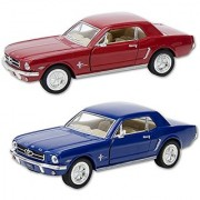 Die Cast 1964 1/2 Ford Mustang car 1:36 scale - Available in Red Black or Blue - Only one included