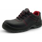 Pantofi de protectie din piele cu bombeu metalic S3 SRC