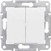 SEDNA Kettes váltókapcsoló 10 A IP20 Fehér SDN0600121 - Schneider Electric