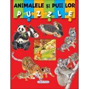 Puzzle - animalele si puii lor/***