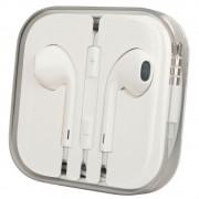 Handsfree (casti) cu fir si microfon Apple MD827ZM/A bulk alb pentru Apple iPhone 5/5C/5S/6/6 Plus/iPod/iPad