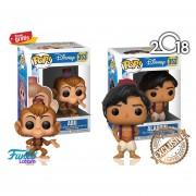 Set De 2 Piezas Coleccionables: Aladdin Y Abu Funko Pop De La Pelicula De Disney Aladdin