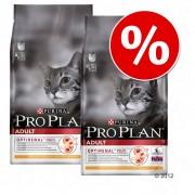 Икономична опаковка: 2 големи пакета Pro Plan храна за котки - 2 x 10 кг Adult с пиле и ориз