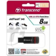 Transcend JetFlash 340 OTG 8 GB OTG Drive(Black, Type A to Micro USB)