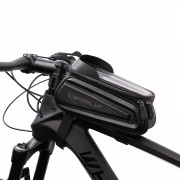 "WHEEL UP 050 Reflective Safe Cycling Bag Waterproof Saddle Bag Touch Screen 7.0"" Phone Case"