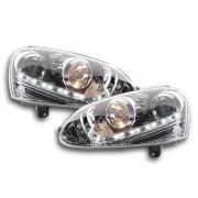 FK-Automotive luce di marcia diurna fari Daylight VW Golf 5 anno di costruzione 03-08 cromato