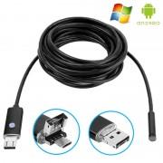 Câmara Endoscópica Impermeável de 8mm USB AN99 para Android e PC - 10m - Preto