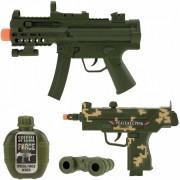 Merkloos Leger speelgoed pistool wapen set 4-delig