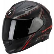 Scorpion Casco Moto Integrale Exo-510 Air Sync Matt Black Neon Red