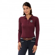 Spooks Viktoria Longsleev Polo - Donkerrood - Size: Medium