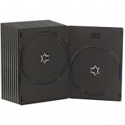 Pearl Doppel DVD Slim (7mm) Box 10er-Set schwarz