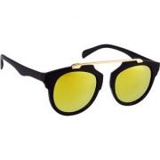 HH Yellow Mirrored UV Protection Unisex Wayfarer Sunglasses