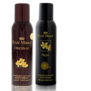 Royal Mirage Body Spray Original 200ml + Royal Mirage Body Spray Night 200ml - Pack of 2