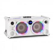 Ibiza SPLBOX200, 200 W, преносима аудио система, Bluetooth, USB / SD, линия, FM, LED (SPLBOX200-WH)