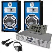 Set completo DJ altoparlanti mixer e amplificatore