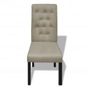 vidaXL Eetkamerstoelen antieke stijl beige 6 st