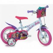 Dino Bikes bicicleta Niñas 12 pulgadas Barbie Rosa