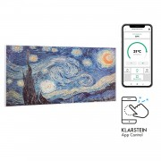 Klarstein Wonderwall Air Art Smart, инфрачервен нагревател, 120 х 60 см, 700 W, приложение, звезди (HTR10-WdwlS700wStarN)