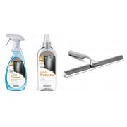 Radaway Zestaw środków do pielęgnacji kabin prysznicowych + ściągaczka łazienkowa