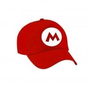 Bellatio Decorations Verkleed pet / carnaval pet Mario rood voor volwassenen