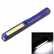 100lm Cob Led De Alta Luminosidad De Forma 2-modes Pluma De Luz De Trabajo / Linterna Con Clip Giratorio De 90 Grados Pluma Magnética, La Luz Blanca (azul)