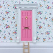Fairy Door - The Best Bubblegum Pink Magic Door with ladder kit for child's room, perfect for bringing fun, adventure and magic to your home by Magical Little World