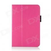 Funda protectora de cuero PU Flip Open con sueno automatico / Stand para IPAD AIR 2 - Deep Pink