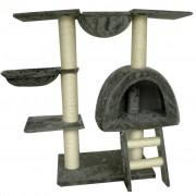 vidaXL Ansamblu din sisal pentru pisici 105 cm pluș gri