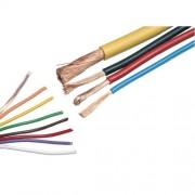Conductor multifilar rasucit din cupru , cu rezistenta marita la indoire (flexibil) MYF 1 x 2.5 mm , verde-galben