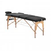 Cama de massagem Marseille Black - portátil - em preto