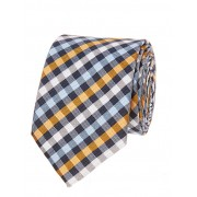 Blue & Orange Check Design Tie