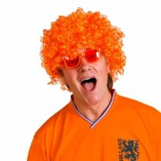 Lobbes Pruik krulletjes oranje