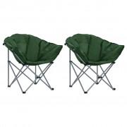 vidaXL Cadeiras lua dobráveis 2 pcs verde