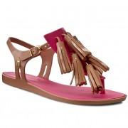 Vietnámi papucsok MELISSA - Solar + Salinas II Ad 31716 Brown/Light Pink 50524