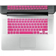 Litop Thin Hot Pink Color Noctilucent Series Silicone Keyboard Cover Keyboard Skin for All MacBook Air 13 MacBook Pro