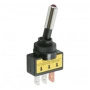 Kapcsoló 2 állású LED-es piros 12V 20A 09058PI