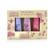 Crabtree & Evelyn Florals Hand Therapy Set (1x Pear & Pink Magnolia, 1x Rosewater, 1x Lavender) 3x25g