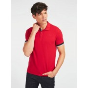 Guess Polo Geborduurd Logo - Rood - Size: Large